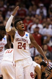 OKLAHOMA CITY, OK - MARCH 20: Buddy Hield #24 of the Oklahoma Sooners celebrates in the second half against the Virginia Commonwealth Rams during the second round of the 2016 NCAA Men's Basketball Tournament at Chesapeake Energy Arena on March 20, 2016 in Oklahoma City, Oklahoma. (Photo by Tom Pennington/Getty Images)